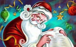 Julemanden checker sin liste