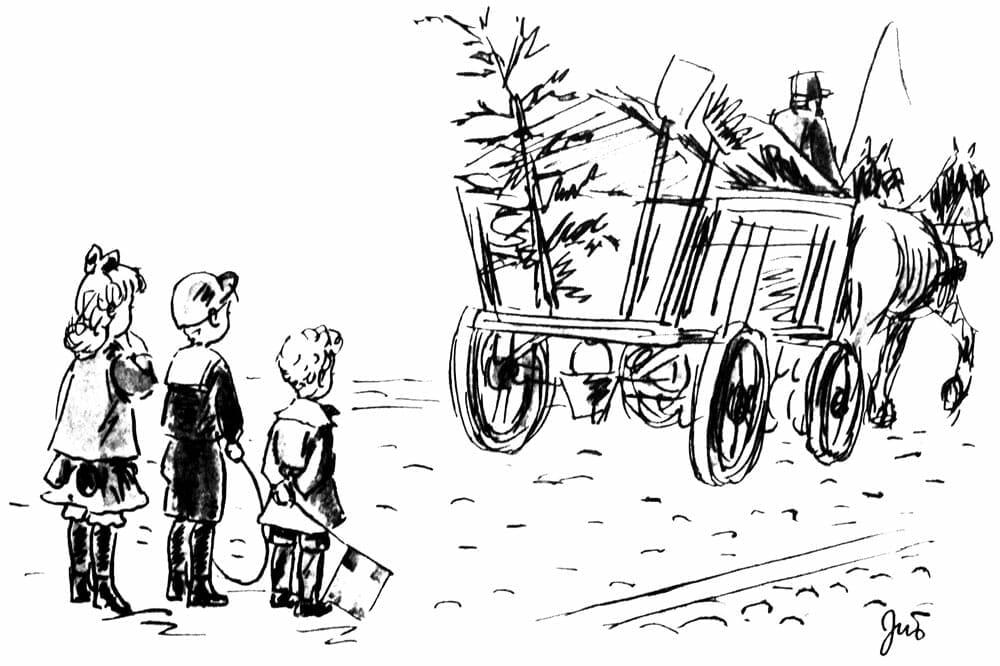 Slutningen på Peters Jul hvor træet køre væk.