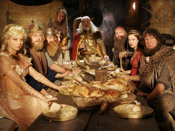 Hvem spiller den onde Loke i 'Jul i Valhal'?