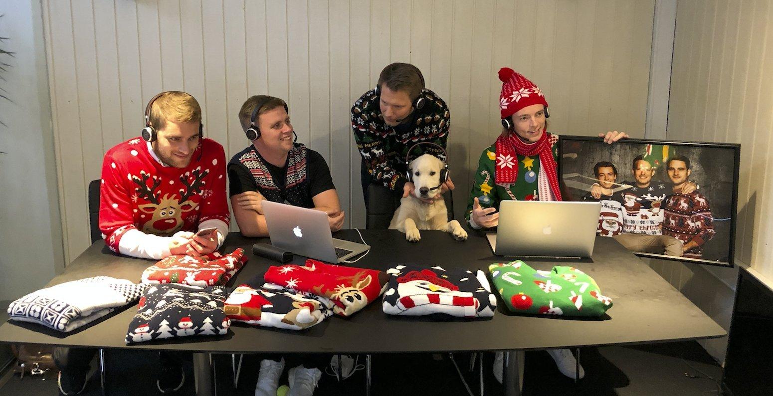 Jule-Sweater tteamet i fuld ganf med at forsyne danskerne med hyggelige sweatre